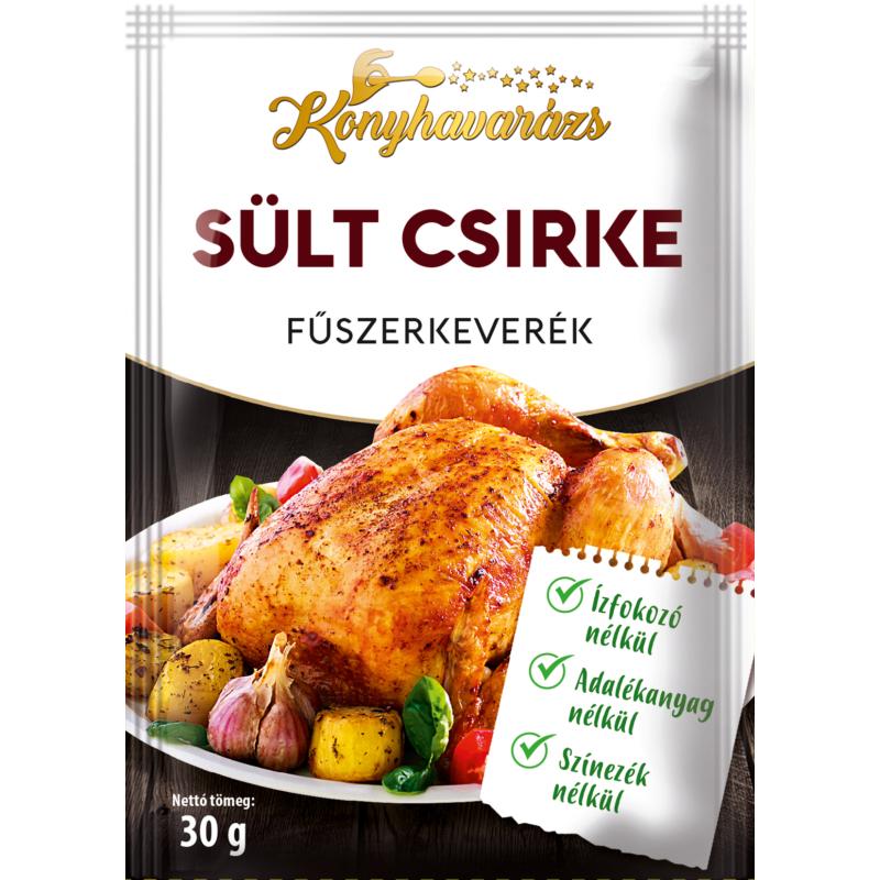 Konyhavarázs Sült csirke fűszerkeverék 30g